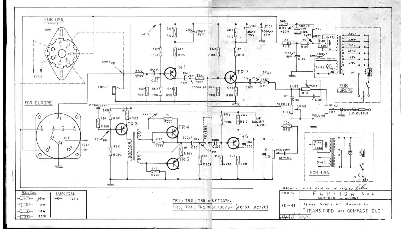 F AR farfisa f ar preamp and reverb schematic farfisa org farfisa wiring diagram at panicattacktreatment.co
