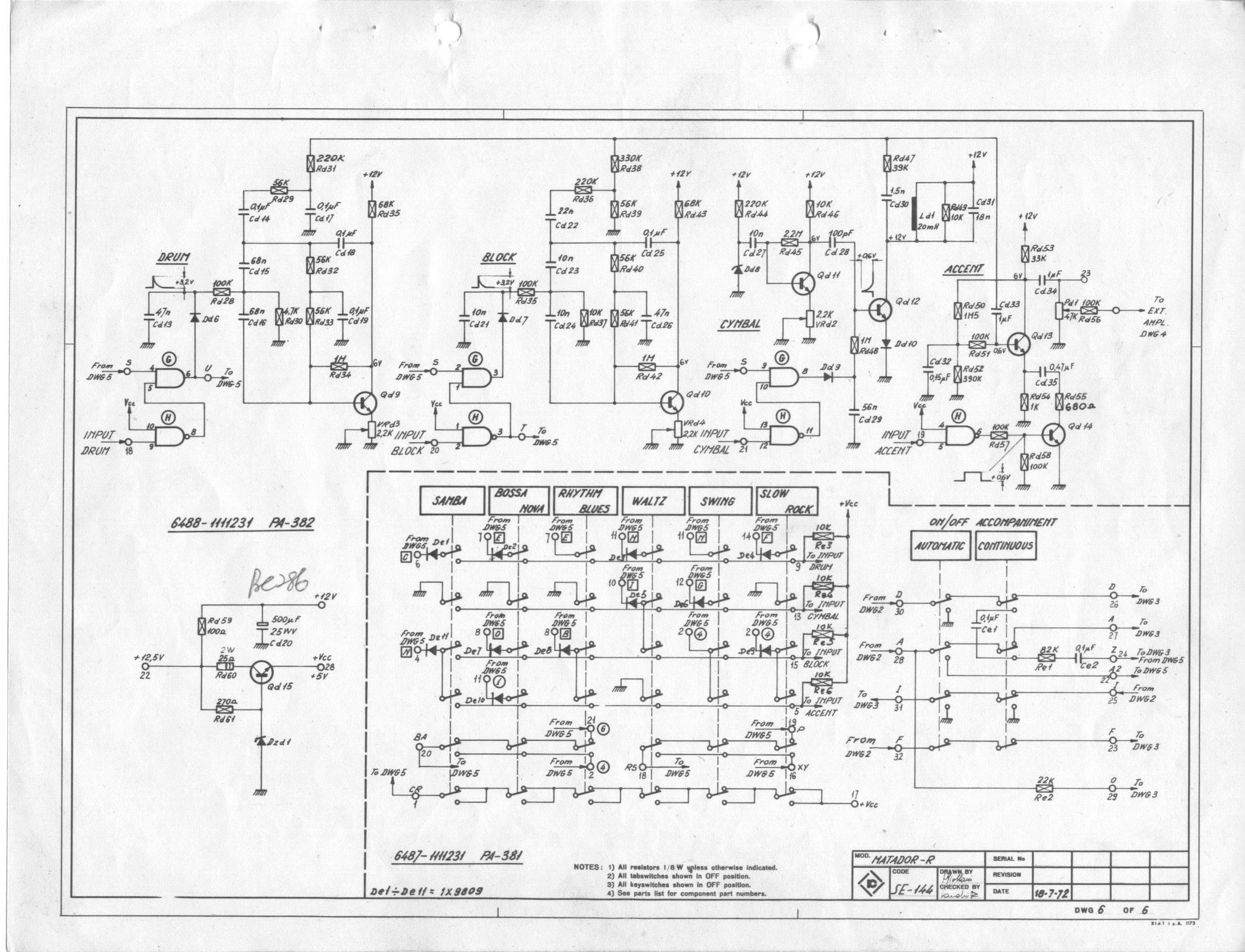 Matador07 farfisa matador r electronic organ schematic diagrams farfisa org farfisa wiring diagram at panicattacktreatment.co