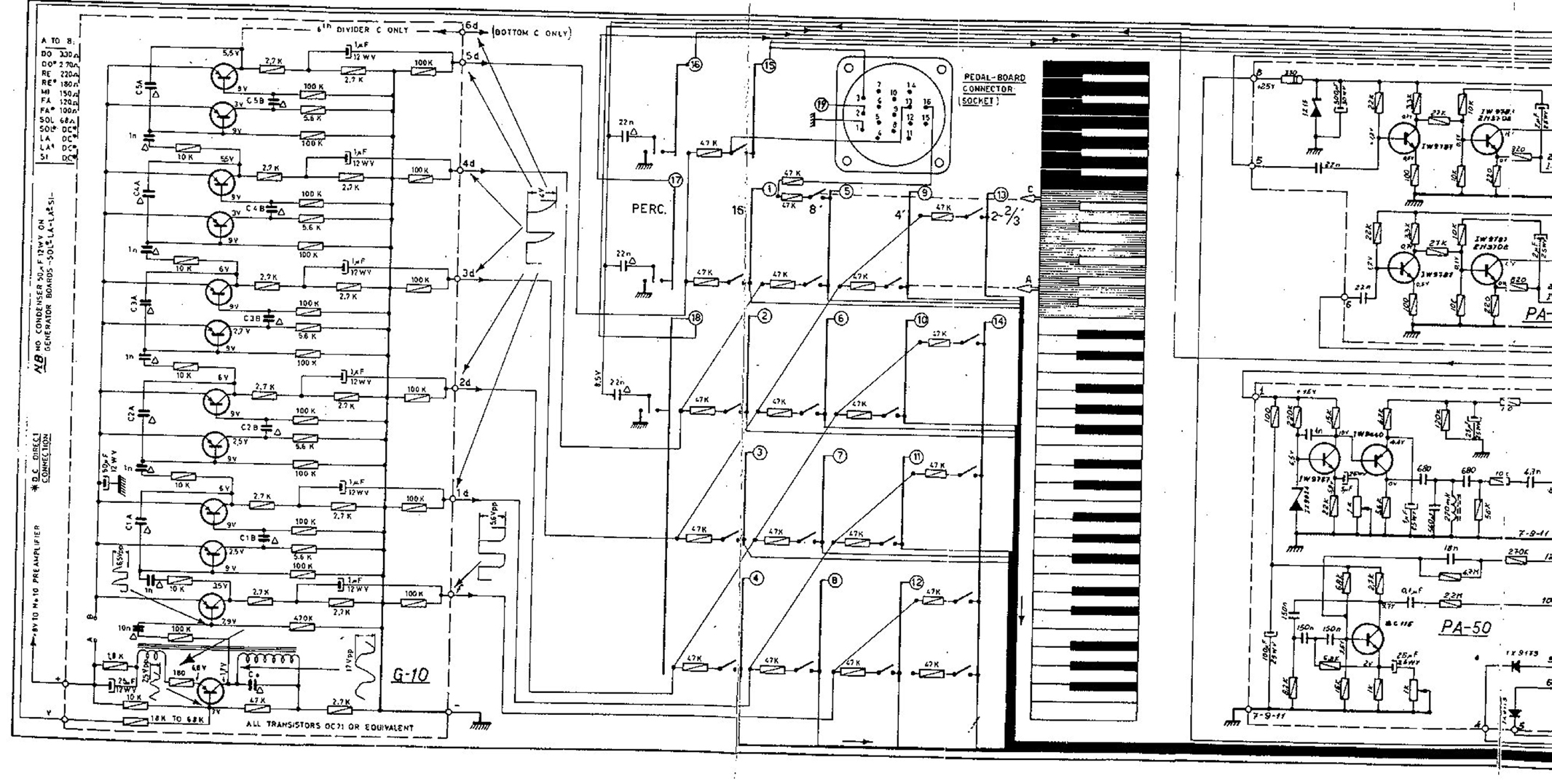 deluxe 1 b farfisa compact deluxe schematics farfisa org farfisa wiring diagram at panicattacktreatment.co