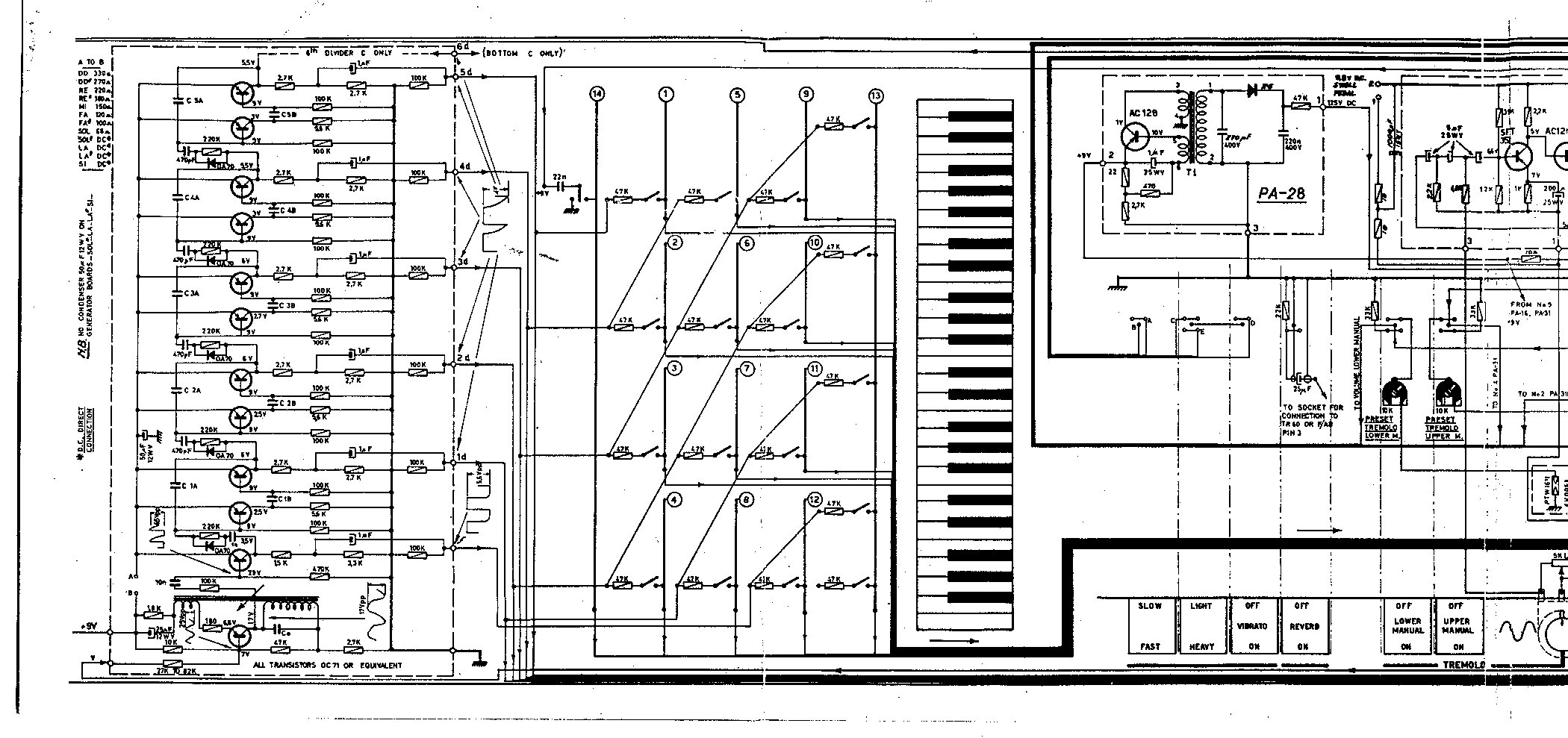 farfisa duo schematic page 1 schematics farfisa org farfisa wiring diagram at panicattacktreatment.co