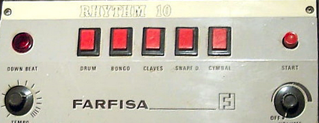 Farfisa Rhythm 10 Drum Machine